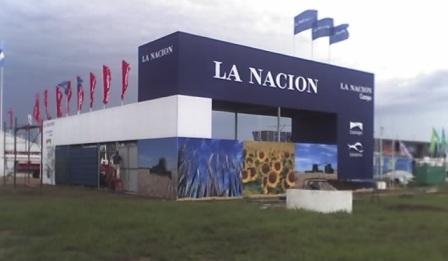 Stand de La Nación en Expo Agro (Foto: Alemelo).