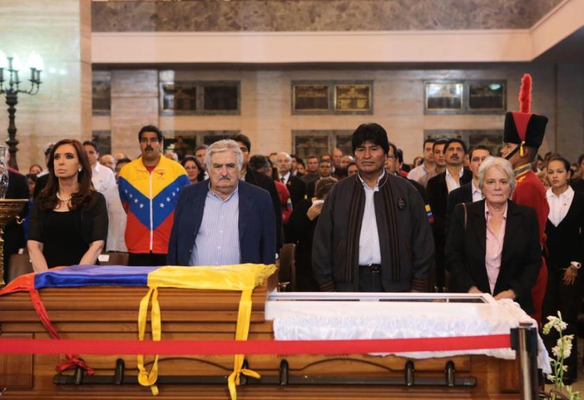 Funeral de Hugo Chávez Frías. Presencia de mandatarixs. Foto: Cristina Fernández de Kirchner Facebook.