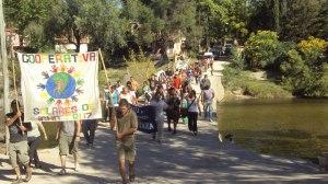 Marcha de Icho Cruz a Cuesta Blanca, realizada el sábado 20 de abril. Foto: Indymedia Córdoba.