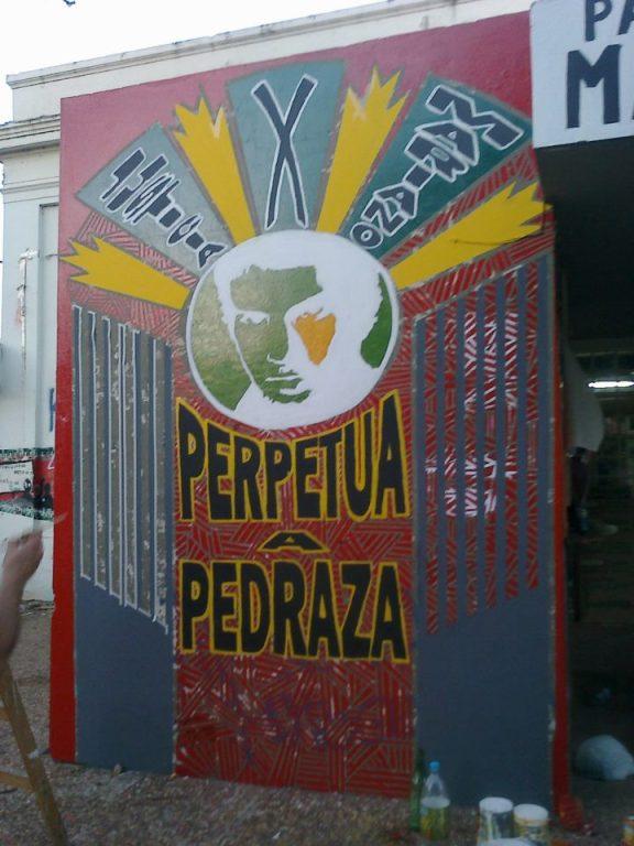 Mural en la Facultad de Filosofía y Humanidades (UNC). Foto: Gentileza Elvira Dinamita.
